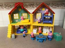 Peppa Pig Toy Lot - Deluxe House Playset - Figures, Furniture & Accessories