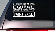 """Paintball equal Sticker *G701* 8"""" vinyl paintball automatic trigger mask suit"""