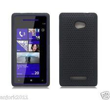 HTC Windows Phone 8X 6990 Hybrid Case Skin Cover Accessory Black
