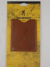 Browning Executive Leather Mens Money clip with pocket/ID card holder - New