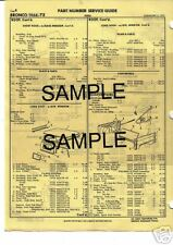 1961 1962 1963 1964 1965 1966 1967 FORD ECONOLINE BODY PARTS LIST CRASH SHEETS !