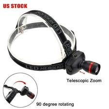 Mini 1000 LM LED Headlight Adjustable Angle Head Band Torch 3 AAA Battery USA B#