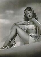 "USA WW II "" 5 x 7 Inch "" Photo <> Marie Mc Donald - Pin Up Girl"