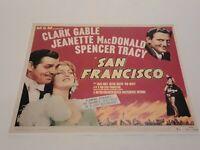 Reprint Lithograph? Clark Gable San Francisco  Lobby Card Movie Poster