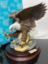 Andrea By Sadek Bald American Eagle Bird Porcelain Figurine Art Statue