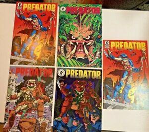 Predator 1 FIRST PRINT Full Set 1-4 First Appearance Predator + #1 2nd Printing