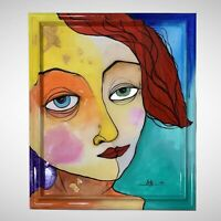"""PAINTING ACRYLIC, RESIN AND MIXED MEDIA ON CANVAS (FRAMED) 16""""X20"""" By LISA."""