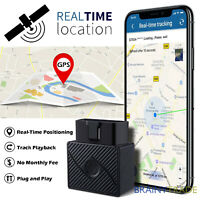 OBD2 GPS Tracker Real Time Vehicle Tracking Device OBD II for Car Truck Locator