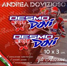 2 Adesivi Stickers DOVI Dovizioso 04 Ducati Replica10 x 3 cm DESMODOVI Desmo