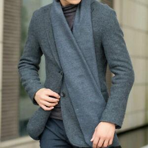 Mens Winter Scarf Soft Cashmere Classic Warm Long Scarf Stole Wrap Shawl