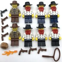 Lego Western Custom Minifigure THE GAMBLER with Ace Card Tile