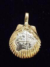 Atocha Shell Pendant Gold Overlay 925 Silver Sunken Treasure Shipwreck Jewelry