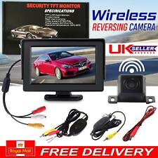 "Wireless Car Reversing Camera Kit Rear View LCD Monitor 4.3"" +HD Night Vision"