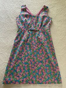 EUC Lilly Pulitzer 6 Bow Empire Waist Sleeveless Lined Cotton Dress Vintage