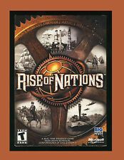 Rise of Nations (PC GAME 2003) Windows XP/2000/ME/98 - Strategy *Full Used VG*