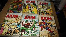 lot de 6 albums AKIM , 67-112-113 -115-116-118 , 1ere serie