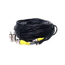 150ft Security Camera Video Power Cable DVR CCTV Surveillance BNC RCA Wire b7v