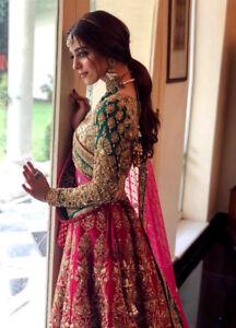 Designer Wear Bridal Lehenga Choli Pakistani Indian Pink Wedding Ghagra Lengha