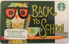 STARBUCKS BACK TO SCHOOL 2016 GIFT CARD BRAND NEW JUST RELEASED