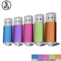 1-5PCS 32GB USB 2.0 Flash Drive Data Storage Rotate Thumb Pen Memory Stick