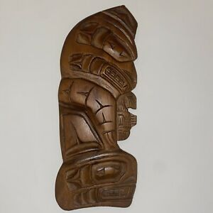 Northwest Coast Native TRADITIONAL Animal Plaque CARVING signed BRIAN MOUNTAIN