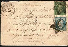 FRANCE Cover Paris Addressed Switzerland ST HIPPOLYTE GARRISON Soldier 1871 FC83
