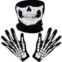 Skull Skeleton Face Mask Biker Ghost Motorcycle Halloween Fishing Gloves Ski UK