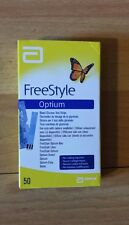 X50 Freestyle Optium Tiras de prueba de glucosa en la sangre. *** *** Buena Caducidad