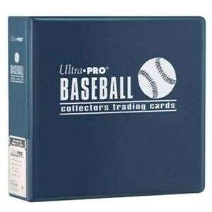 """Case(6) Ultra Pro 3"""" Blue Baseball Card Collector Storage Albums Binders D-ring"""