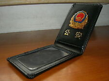 1989's series China Police and CAPF Badge Certificate ID Holder,Cattle Leather
