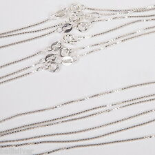"""24 pieces 925 Sterling Silver Box 015 Chain Necklaces Wholesale Lot 16"""" and 18"""""""