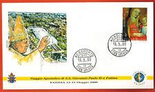 2000-Fdc 1°Jour-Vatican-Voyage du Pape J.P. II à Fatima-Timbre-Lisbonne-Portugal