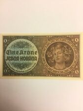 1940 Czechoslovakia, BOHEMIA & MORAVIA 1 koruna,Very RARE,BU!!!