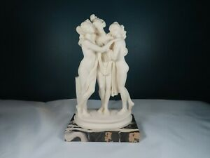 "Vintage - The Three Graces Statue - Signed 10.5""H - G Ruggeri"