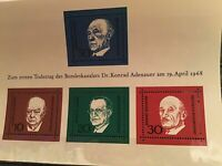 Germany Churchill and world leaders mint never hinged stamps sheet R21772