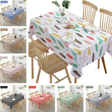 Waterproof Check Wipe Clean PVC Tablecloth Kitchen Dining Oilcloth Cover Vinyl