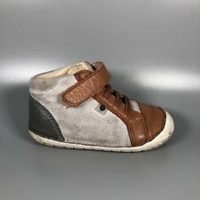Old Soles Toddler Boy's Size EU 24 21-24 Months Suede Leather Sneaker Shoes
