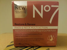 No7 Restore and Renew Face and Neck MULTI ACTION Night Cream 50ml