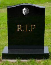 Round Personalised Ceramic Memorial Photo-Plaque 100mm Weatherproof