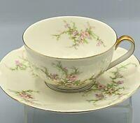 THEODORE HAVILAND New York Pink Roses ROSALINDE Porcelain Tea Cup Saucer Set