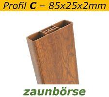 "Musterstück - Zaunlatte C (85x25x2mm) ""golden oak"" Profiware Gartenzaun Staketen"