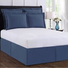 Wrap-Around Wonderskirt Full Bed Skirt in Blue 15� Drop in Blue [C-Sm-2959]