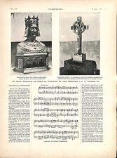 Alphonse XII roi d'Espagne à Notre-Dame de Paris Buste Saint-Louis GRAVURE 1905