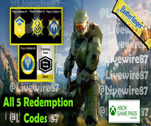 Halo Infinite Butterfinger all 6 official ready codes! - VERY RARE