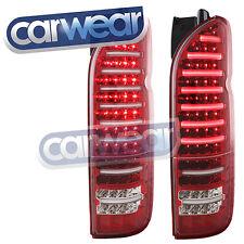 """LED BAR CLEAR LENS RED TAIL LIGHT TOYOTA HIACE VAN 04-14 """" VALENTI """" FULL LED"""