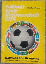 More details for sweden v uruguay 1974 world cup