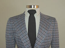 VINTAGE MAVEST GRAY/RED/BLUE CHECK WOOL BLEND 2 BUTTON SPORT COAT 39S