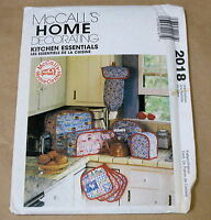 McCALL'S HOME DECORATING SEWING PATTERN 1980s 2018