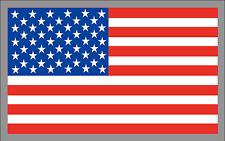 "4"" x 7"" American Flag Patriotic USA U.S. Premium Vinyl Bumper Sticker Decal"