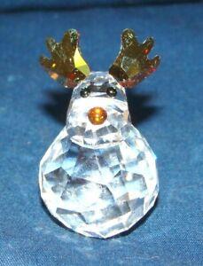 Swarovski Rocking Reindeer Figurine w/ Box